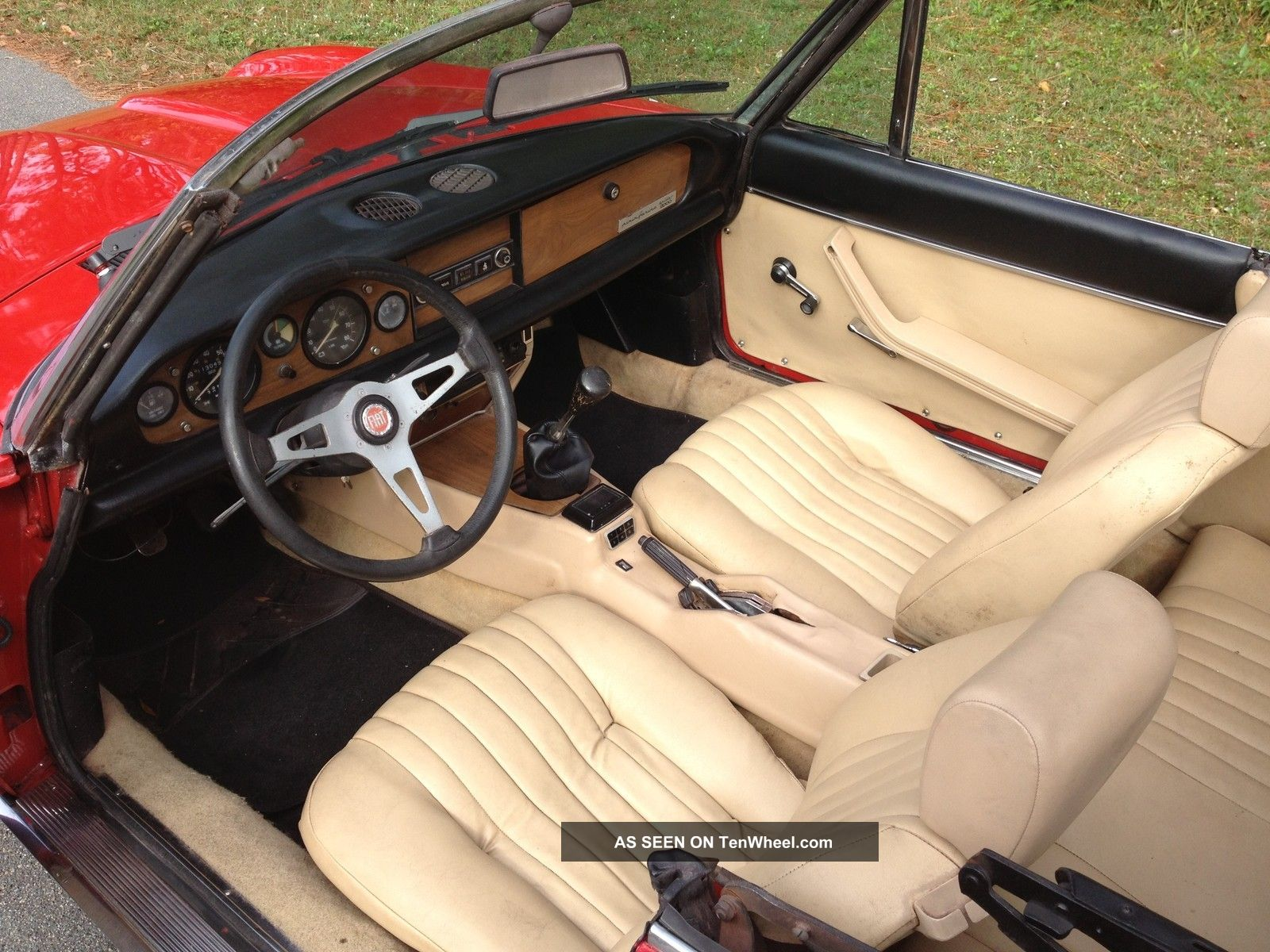 1981 Fiat Spider 124 Convertible Fuel Injection 2000 Cc Red Beauty In Florida