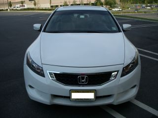 2009 Honda Accord Coupe 6 Cyl Ex - L White With Tan Interior photo