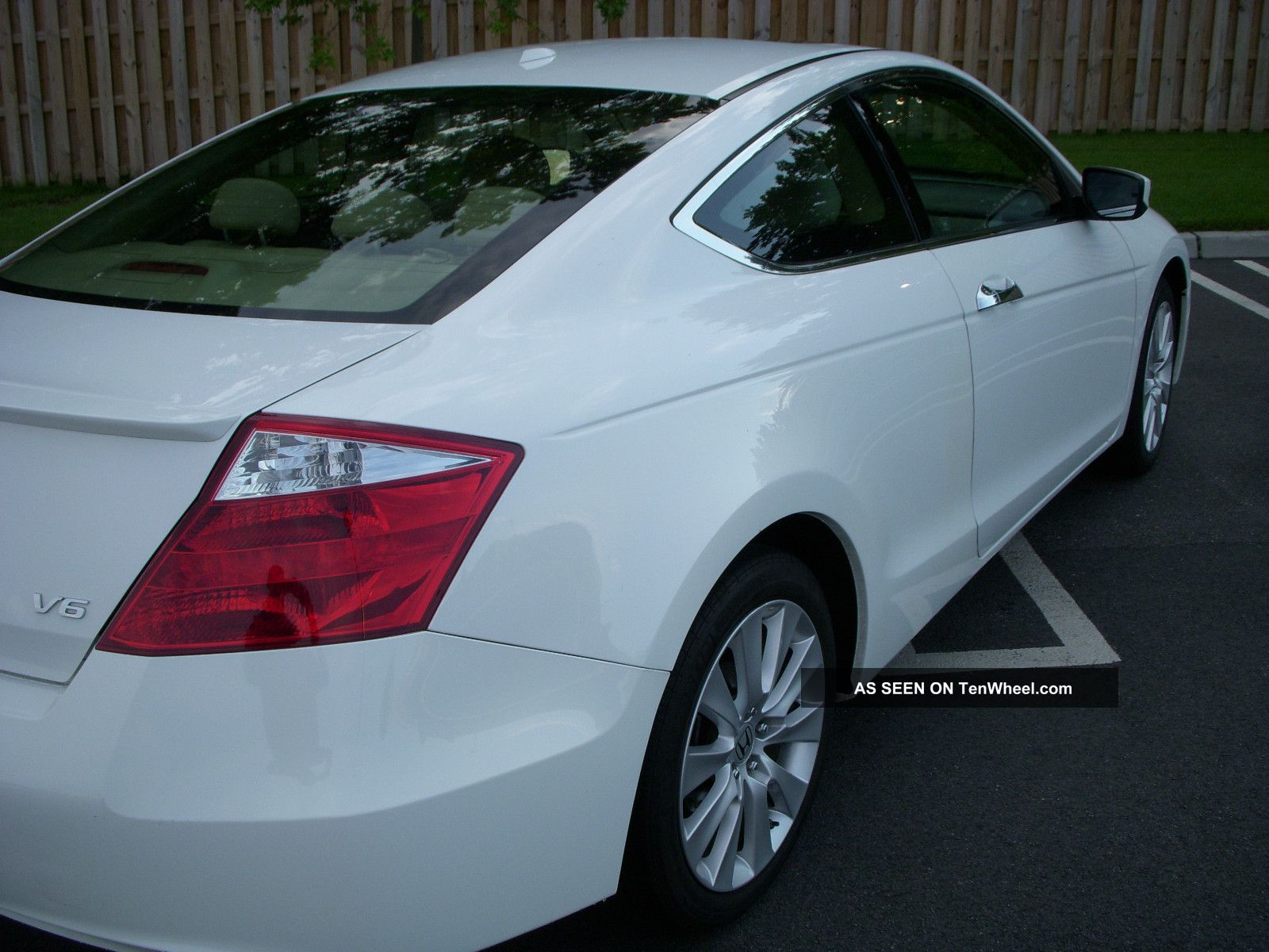 2009 honda accord coupe 6 cyl ex l white with tan interior. Black Bedroom Furniture Sets. Home Design Ideas