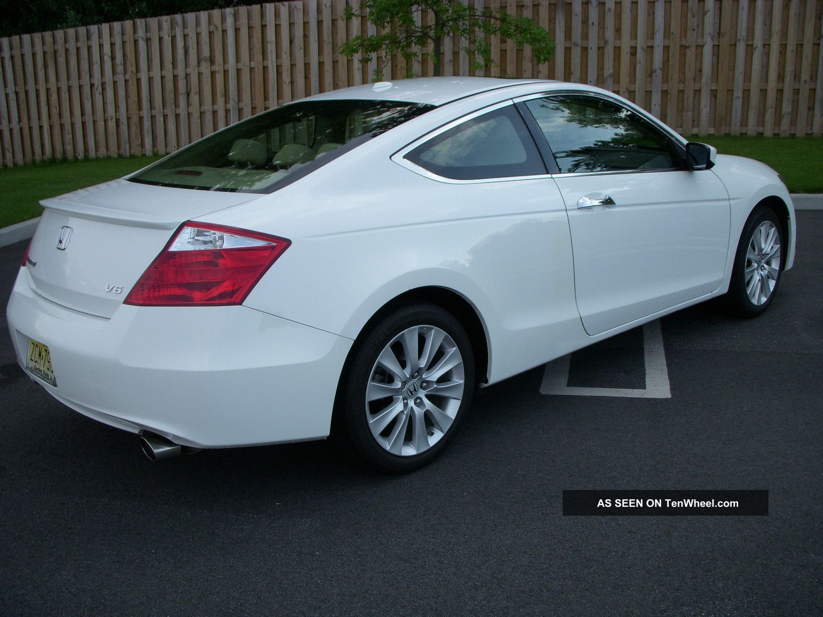 2009 Honda Accord Coupe 6 Cyl Ex L White With Tan Interior