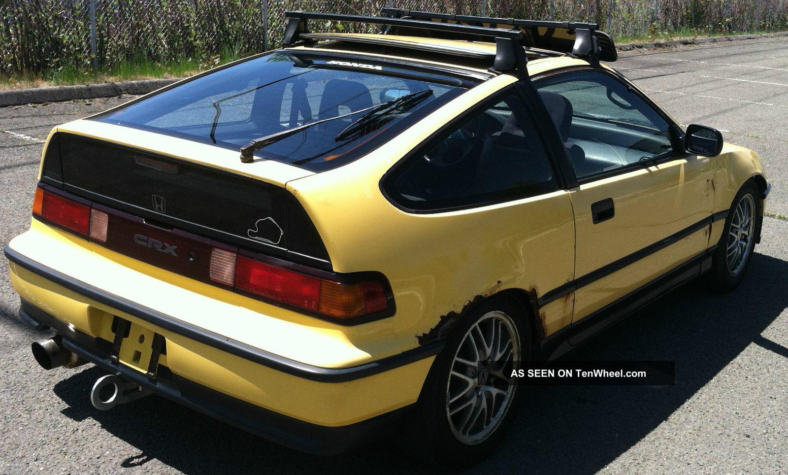 1990 Honda Crx Si Y49 Yellow W. B16 Swap