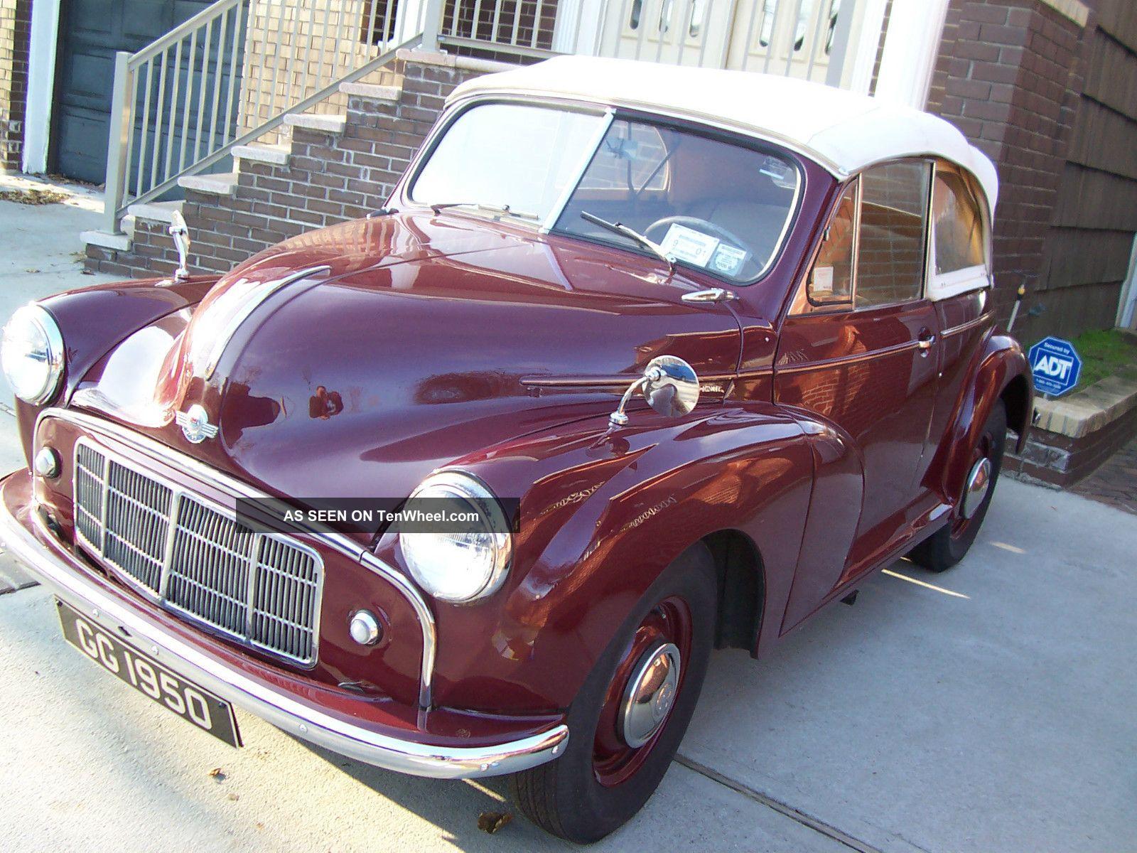 Morris Minor Mini Cooper Citreon Bmw 1950 Convertible Exc Shape