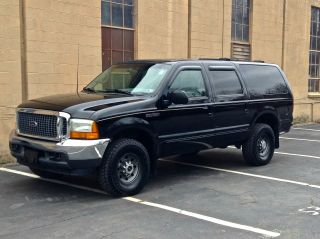 2000 Ford Excursion 4x4 Limited 7.  3l Turbo Diesel No Rust - Suv Black / Grey photo