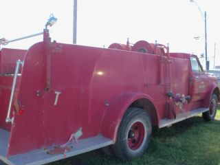 1970 Chevrolet C - 50 Fire Truck Working Water Pumps Very photo