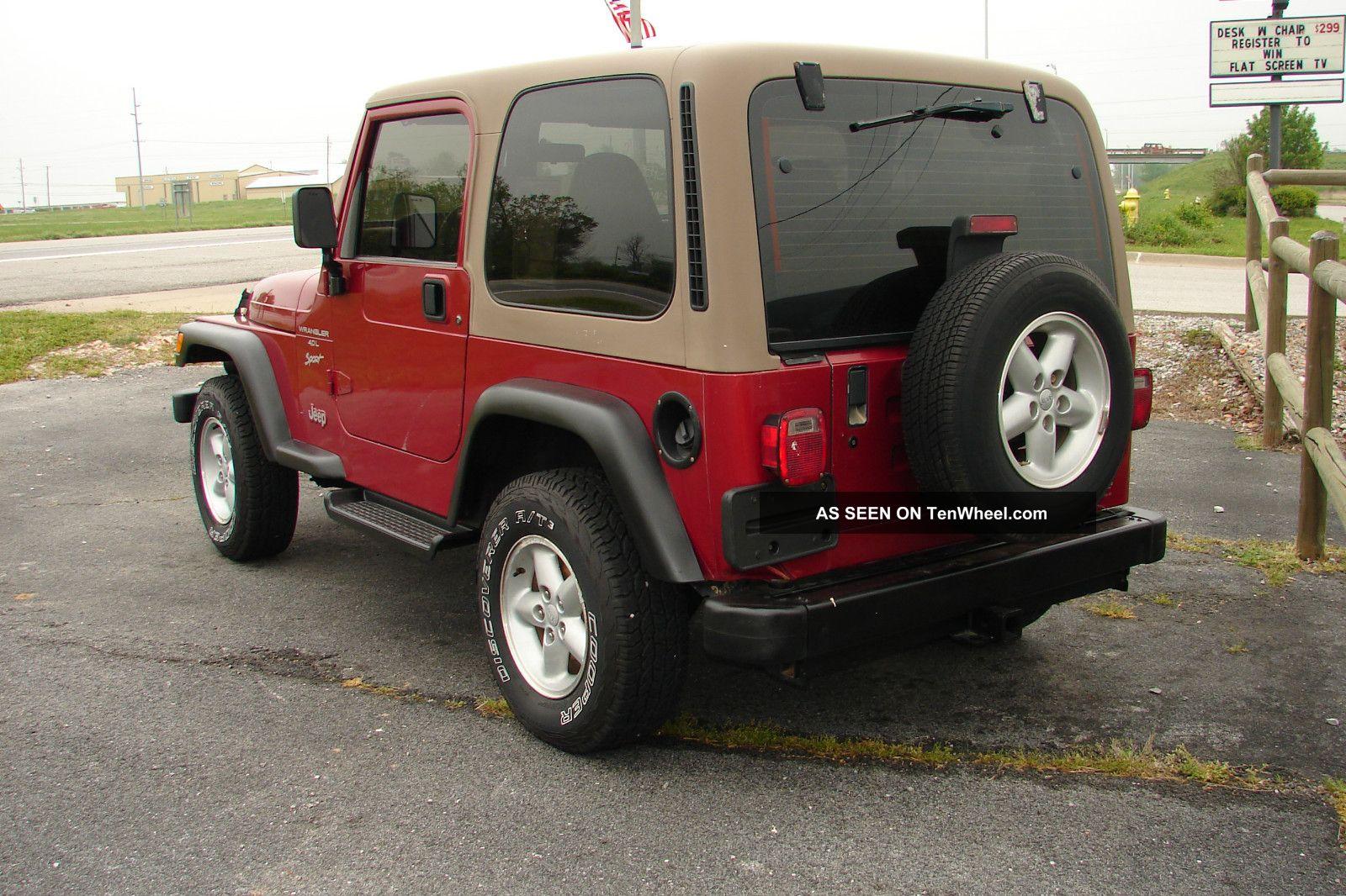 1999 jeep wrangler sport 6 cyl 4 0liter 5 speed manual. Black Bedroom Furniture Sets. Home Design Ideas
