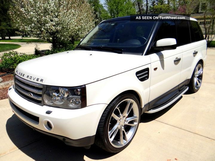 2008 land rover range rover sport hse white tan 1. Black Bedroom Furniture Sets. Home Design Ideas