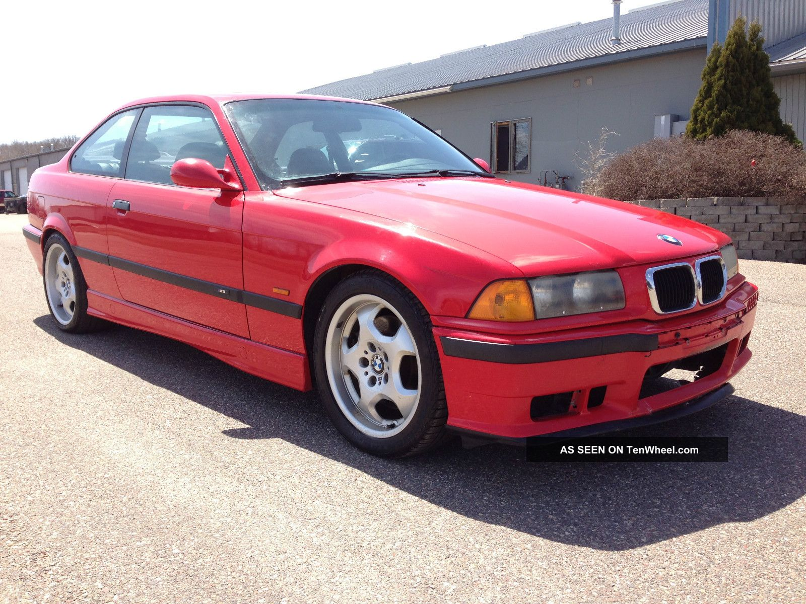 1999 Bmw E36 M3 Hellrot Red Vaders Black Manual 5spd 3.  2l S52 Contour M3 photo