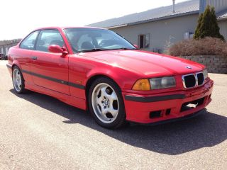 1999 Bmw E36 M3 Hellrot Red Vaders Black Manual 5spd 3.  2l S52 Contour photo