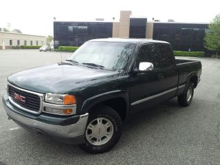 2001 Gmc Sierra 1500 Sle Extended Cab Pickup 4 - Door 4.  8l photo