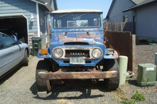 1971 Toyota Land Cruiser Fj40 Removable Top,  Fold Down Windshield,  4x4 photo