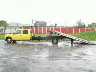 1994 Gmc C3500 Jerr Dan Rollback Crew Cab Pickup 4 - Door 6.  5l Diesel Tow Truck photo