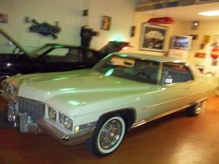 1972 Cadillac Coupe Ca N Fla Car photo