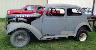 1937 Ford Coupe Rolling Chassis.  Real Steel. photo