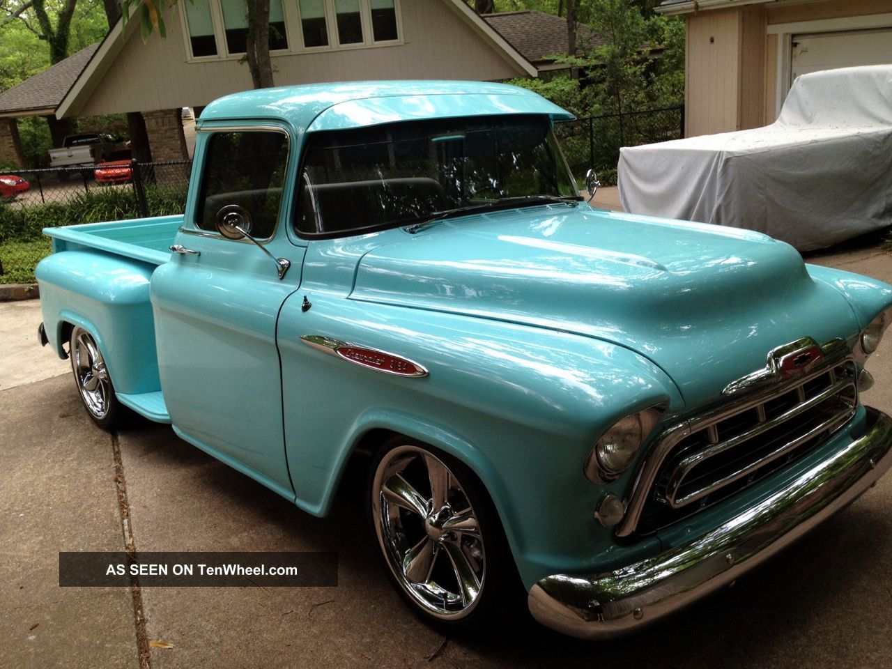 A Totally Custom 1957 Chevy Big Window Pickup 4 Door Truck