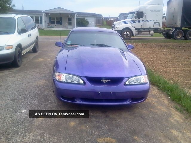 purple ford mustang gt    ghost flames
