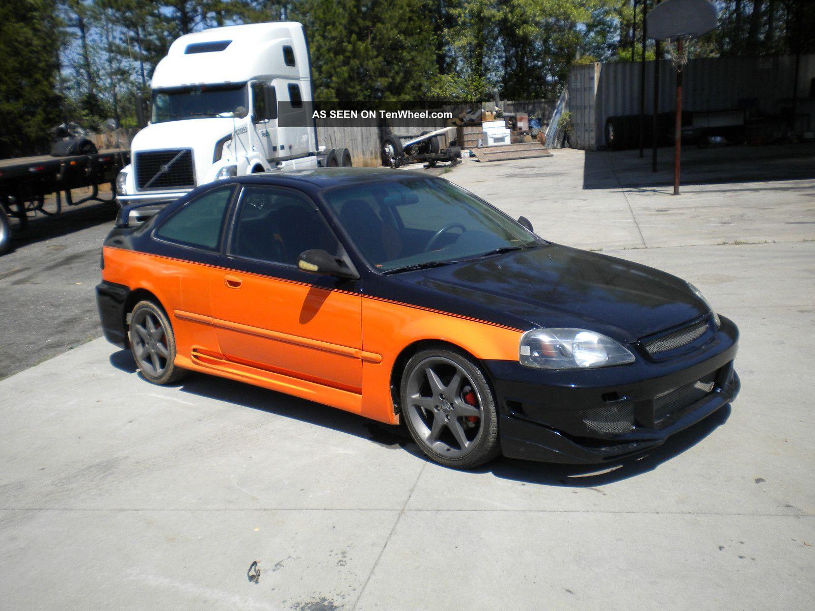 1999 Honda Civic Dx Coupe 2 Door 1 6l