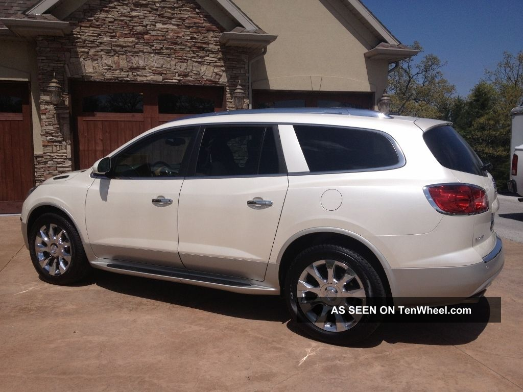 2012 buick enclave awd white diamond premium every option availabe dvd. Black Bedroom Furniture Sets. Home Design Ideas
