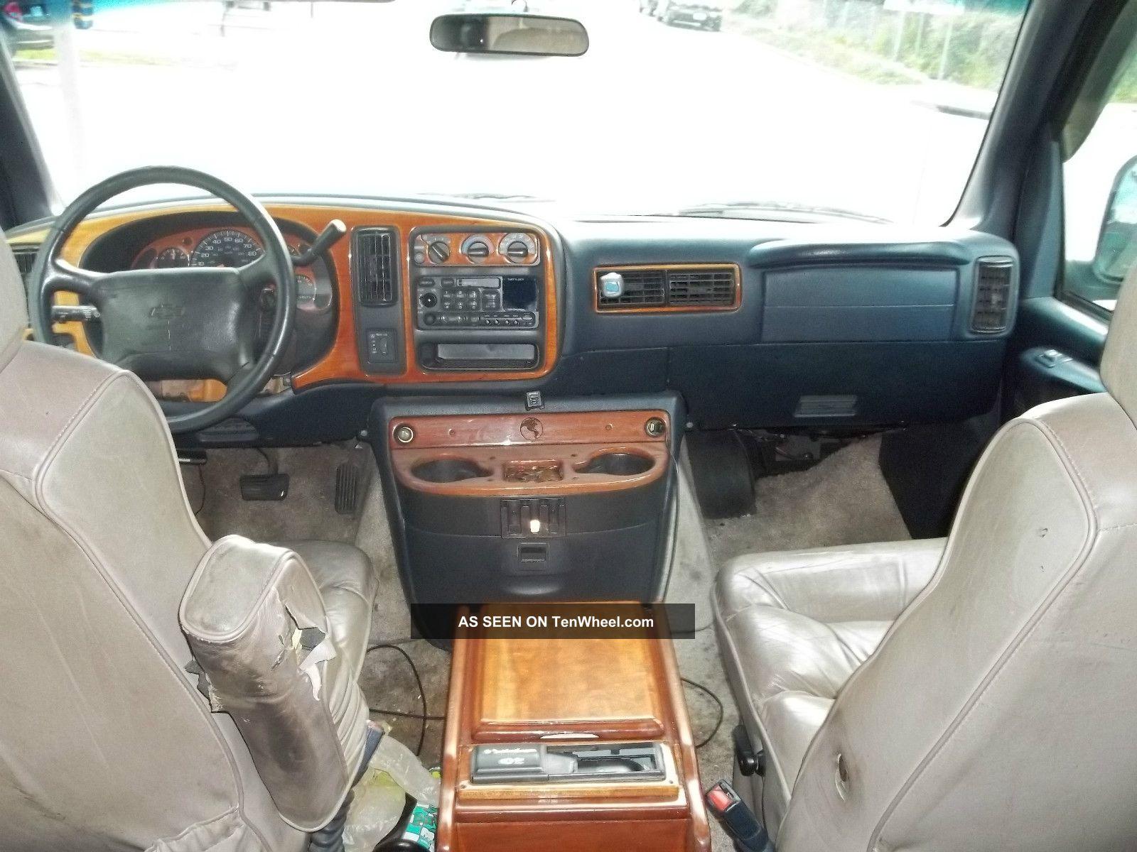 Chevy Express Hi Top Conversion Van Navy Blue Automatic Lgw on 1997 Dodge 1500 Interior