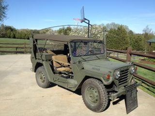 1972 - M151a2 Mutt - Frame Up Restoration - Uncut - Am General & Trailer photo