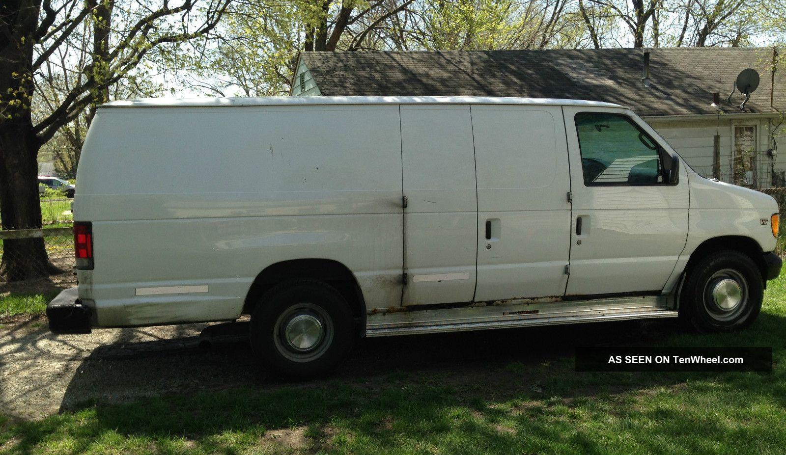 2002 ford e 350 econoline base extended cargo van 2 door 7 3l diesel. Black Bedroom Furniture Sets. Home Design Ideas