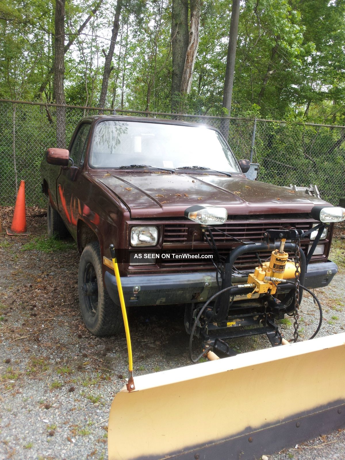 1986 M1008 Cucv Chevrolet Pickup W / Plow (government Surplus) Other Pickups photo