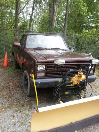 1986 M1008 Cucv Chevrolet Pickup W / Plow (government Surplus) photo