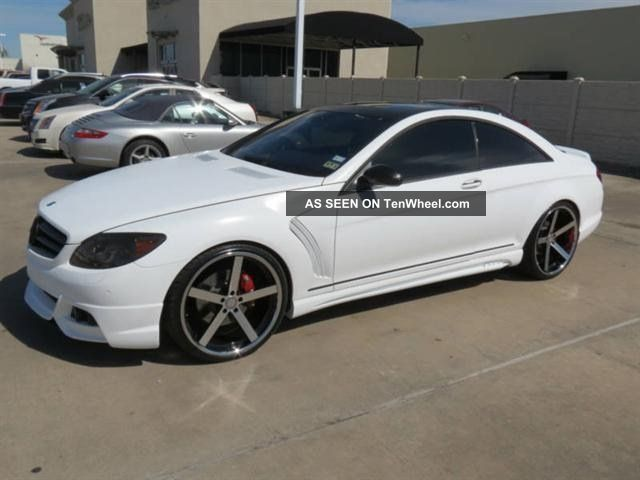 2008 Mercedes - Benz Cl550 Matte White $40k In Upgrades Wald Aero Kit CL-Class photo