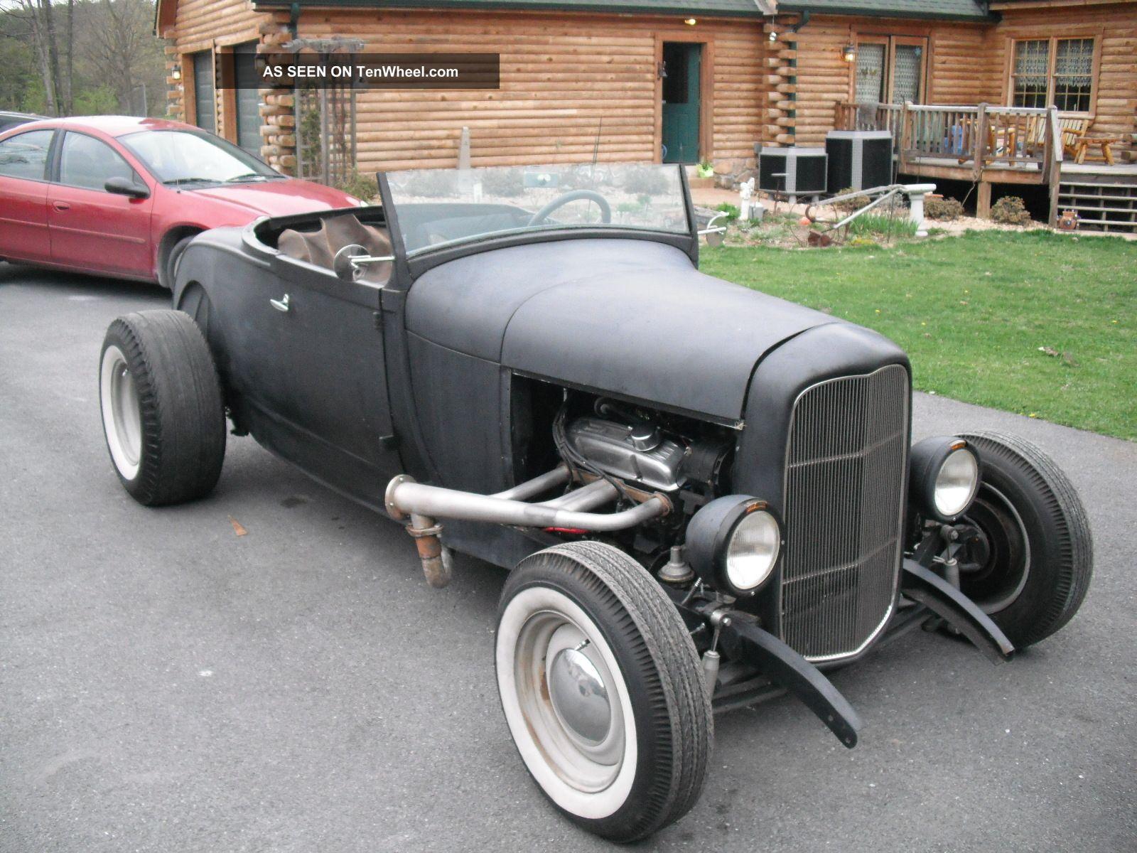 1929 Ford Roadster Orig Steel Body 32 Frame 350 Auto Ratrod