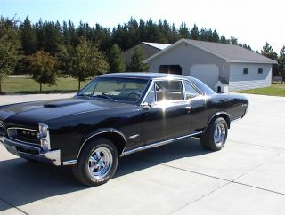 1966 Black Pontiac Gto 2 - Door Coupe (rare) - $42,  500 photo