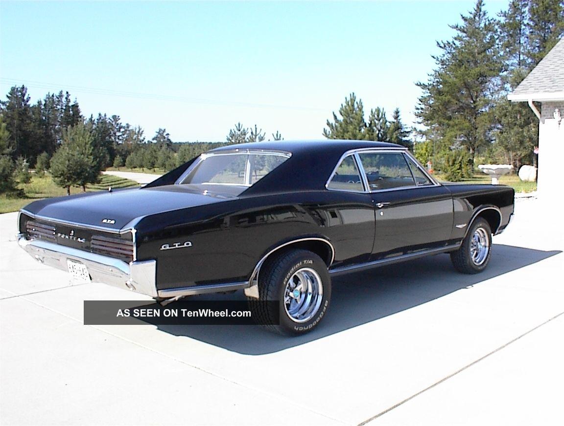 1966 Black Pontiac Gto 2 Door Coupe Rare 42 500