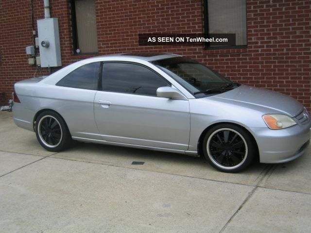 2003 honda civic ex coupe 2 doors silver automatic. Black Bedroom Furniture Sets. Home Design Ideas