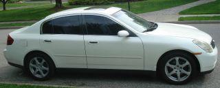 Awesome 2004 Infiniti G35X 64K Orig White Blk Lthr Xenon 6Cd Htd Sts Wiring Cloud Peadfoxcilixyz