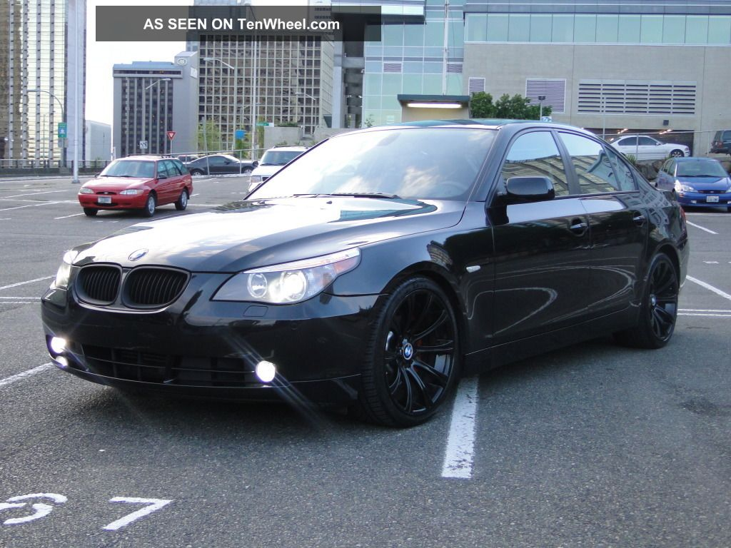 2004 bmw 545i murdered out black on black on black. Black Bedroom Furniture Sets. Home Design Ideas