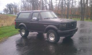 1996 Ford Bronco 7.  3 Powerstroke Diesel 4x4 photo