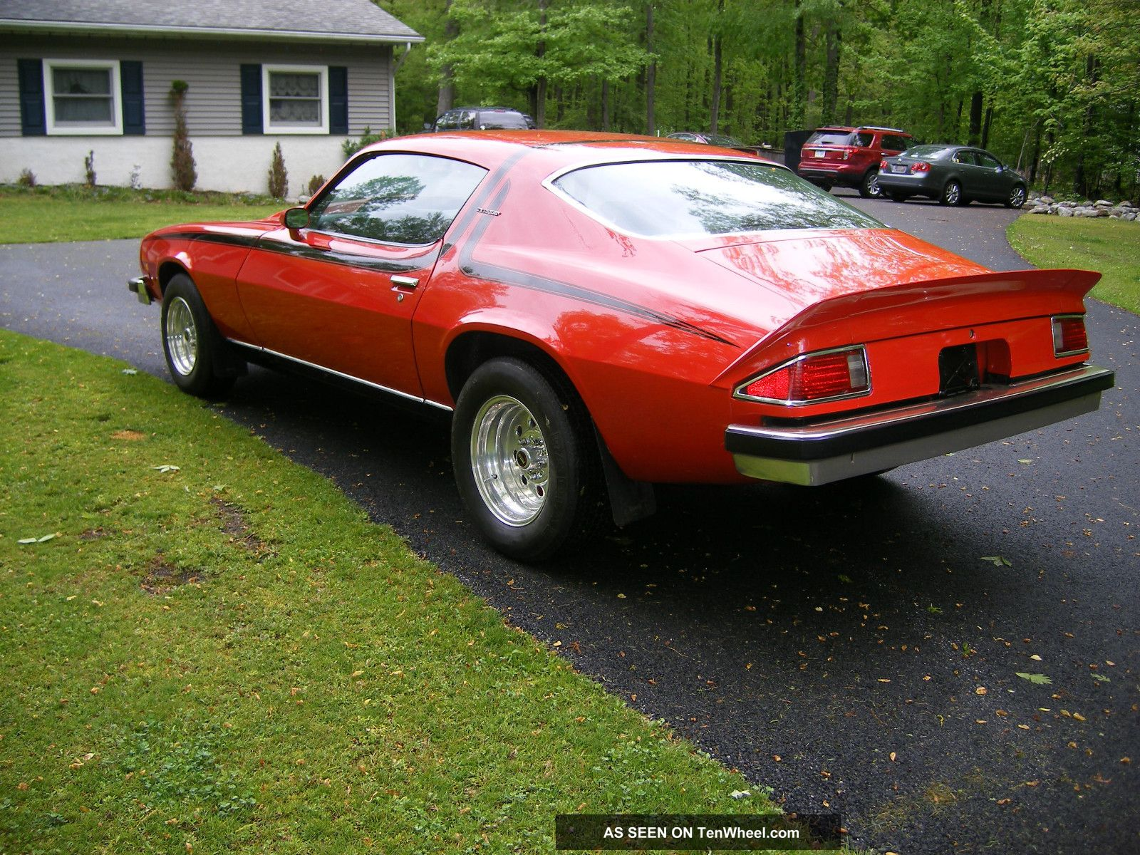 1974 Chevy Camaro Lt Red With Black Stripes And Straight