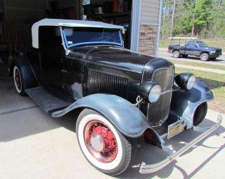1932 Ford Roadster Henry Steel Flathead 8ba 3 - Speed O.  D.  Scta Hot Street Rod photo