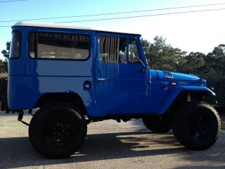 1969 Fj40 Toyota Land Cruiser,  Blue With White Hard Top,  Frame Off Restoration photo