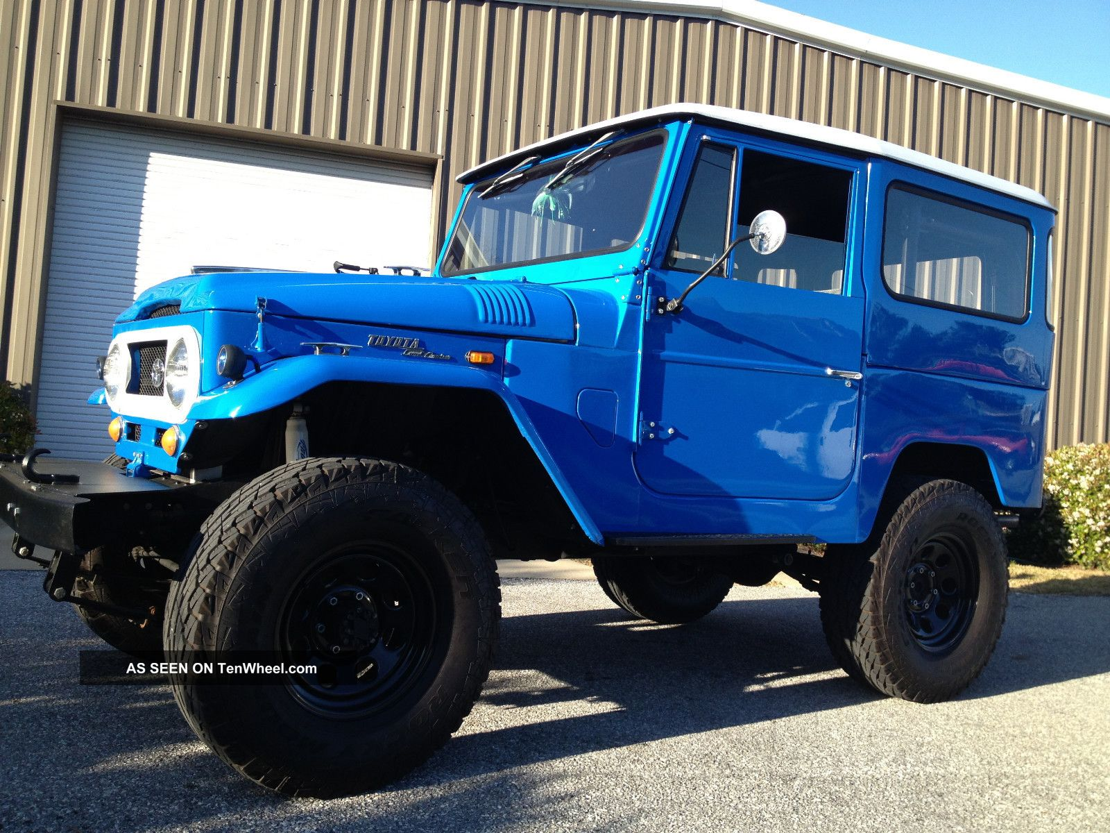 1969 Fj40 Toyota Land Cruiser, Blue With White Hard Top, Frame Off