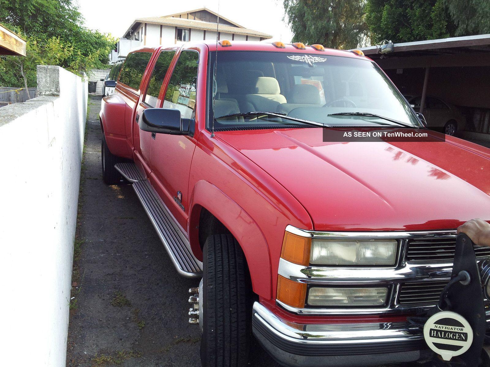 7.3 Powerstroke Specs >> 1996 Chevrolet K3500 Silverado Crew Cab Pickup 4 - Door 7. 4l