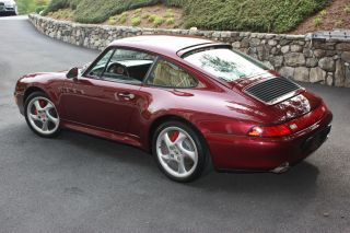 1996 Porsche 911 C4s 993 Coupe 6 Speed Arena Red photo