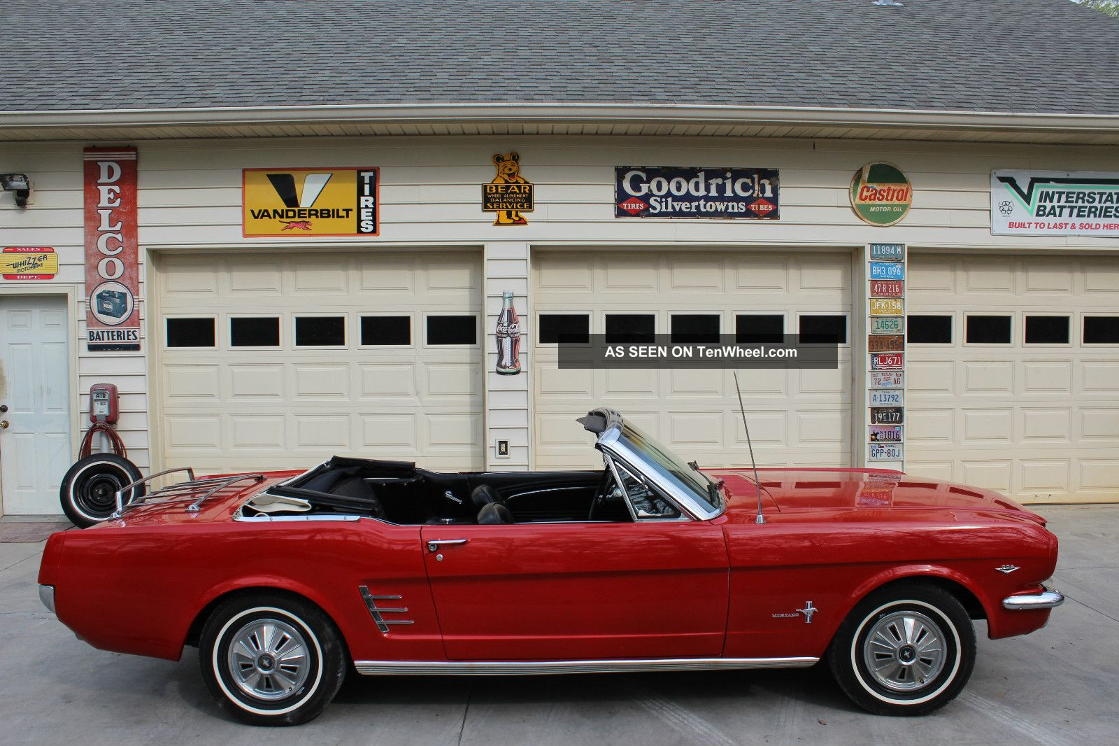 1966 Msutang Convertible. . . .  Georgia Car. . . .  V8 Bright Red. . . .  Automatic Mustang photo