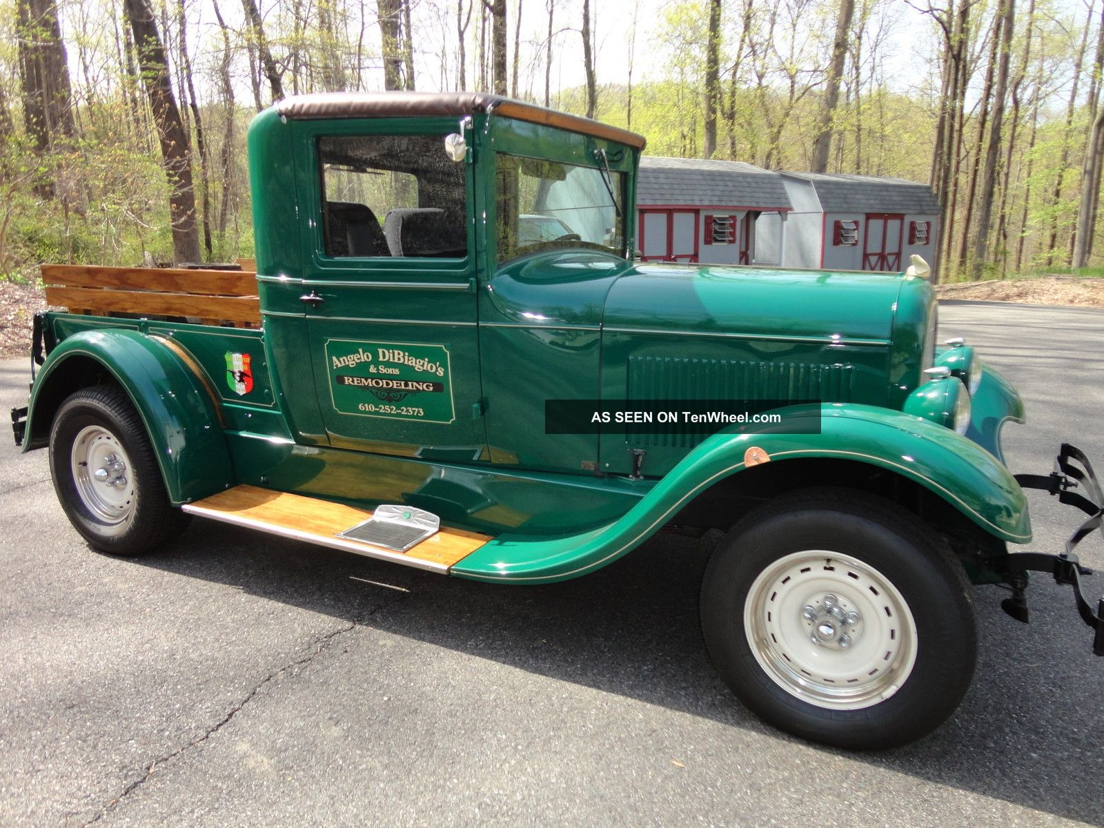 1927 Pick Up,  Green,  Ford 5.  0 302 Engine,  5 Speed,  Cab,  Steel Fenders. Other photo