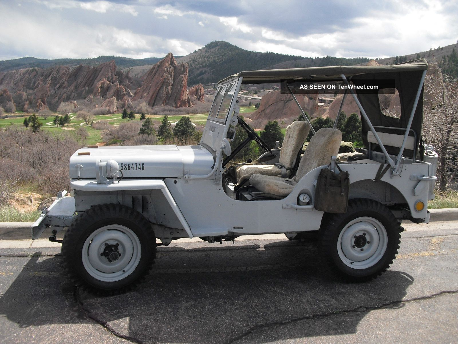 1946 Willys Jeep Cj2a Wwii Military Us Navy Other photo