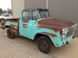 1960 International B120 3 / 4 Ton 4x4 Short Bed Solid Truck Hard To Find photo