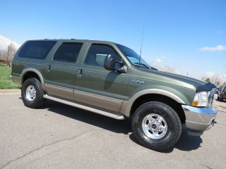 2002 Ford Excursion Limited 7.  3 Powerstroke Turbo Diesel 4x4 V8 2 Own Ca / Co Rare photo