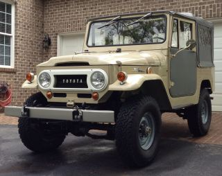 1969 Toyota Fj40 Land Cruiser Fst Rare Factory Soft Top photo
