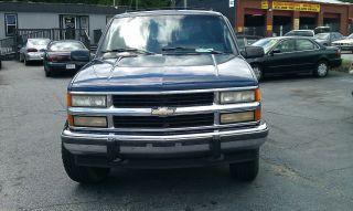1994 94 Chevrolet K1500 Suburban 1500 4x4 4wd Tow Blue Truck Chevy Yukon photo
