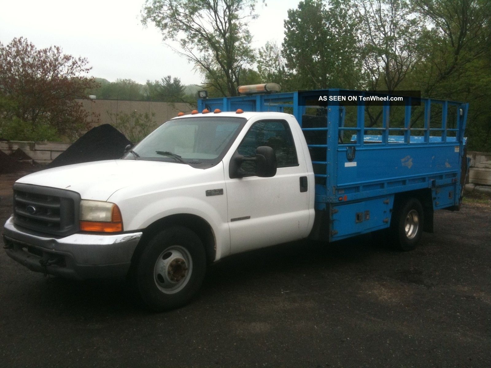 1999 Ford F350 Tire Truck 7.  3 Diesel V8 Duty Tire Truck,  With Compressor F-350 photo