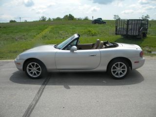 1999 Mazda Miata Base Convertible 2 - Door 1.  8l 5 Spd Light Hail Runs Good photo