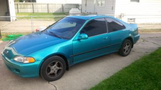 1993 Honda Civic Coupe Ex 1.  6l Vtec 4 - Cyl Teal photo